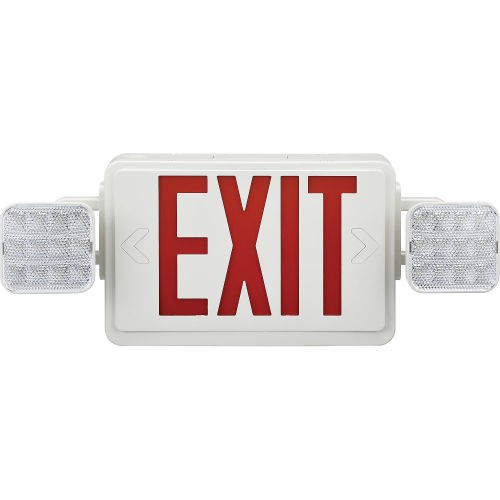 Emergency Exit Sign with LED Lights and Battery Backup – 2