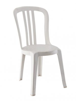 Chair – Bistro – White Resin -2