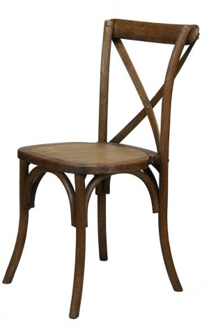 Cross Back Chair – Antique Finish -2