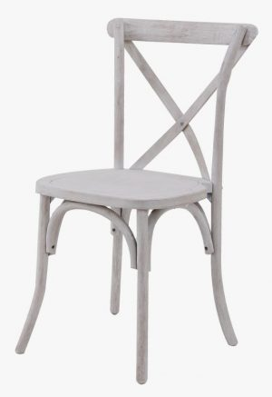 Cross Back Chair – White Wash