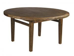 Table – Round – Folding Leg – Antique Finish (1)