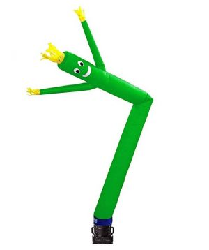 Air Puppet – 15′ Green with Yellow Fringe