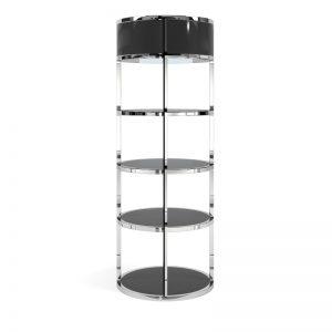 Back Bar – Grand – Polished Stainless Steel – Black – 2