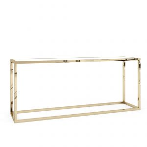 Communal Table – Polished Gold- Bentley – White 30