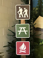 Directional Sign Post – Sign – Campfire