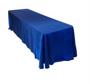 Royal blue satin