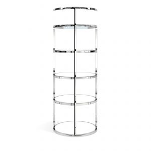 Back Bar – Grand – Polished Stainless Steel – White