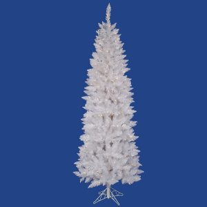 Tree – Christmas – White Pencil Spruce 7.5′ with Lights