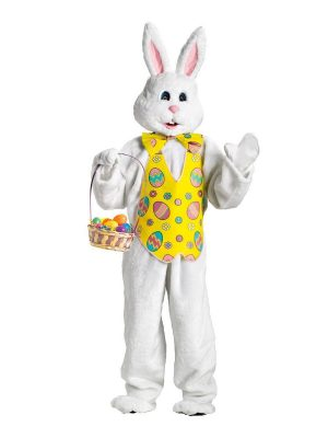 Bunny – White with Yellow Easter Egg Vest