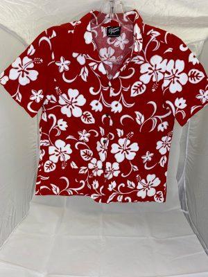 red hawaiian shirt for attendants
